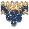 "Metallic 1/2"" Chandellier Trim Gold/royal"
